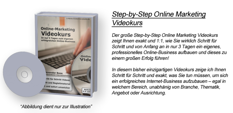 Step-by-Step Online Marketing Videokurs